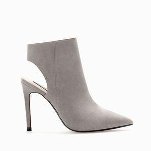 NEW Zara gray sling back booties